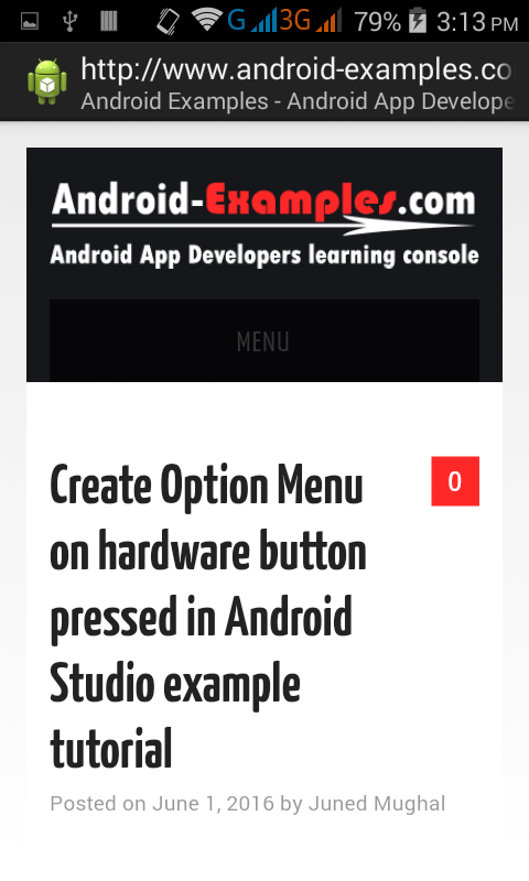 Get Show loaded webpage Title and URL from WebView in android app's ActionBar