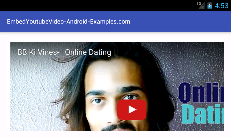 Embed Play YouTube video in android WebView Android Studio example