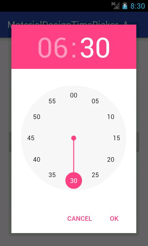 Create Material Design Time Picker Tool Widget In Pre