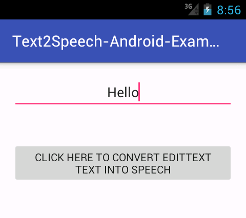 Android Text To Speech Voice Example Tutorial With Source