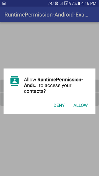 Android Marshmallow Request Runtime Permission Android Studio example tutorial