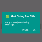 Create Material Design AlertDialog box in pre lollipop devices Android Studio example tutorial