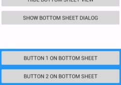 Android Material Desing Bottom Sheet Example tutorial using design support library android studio