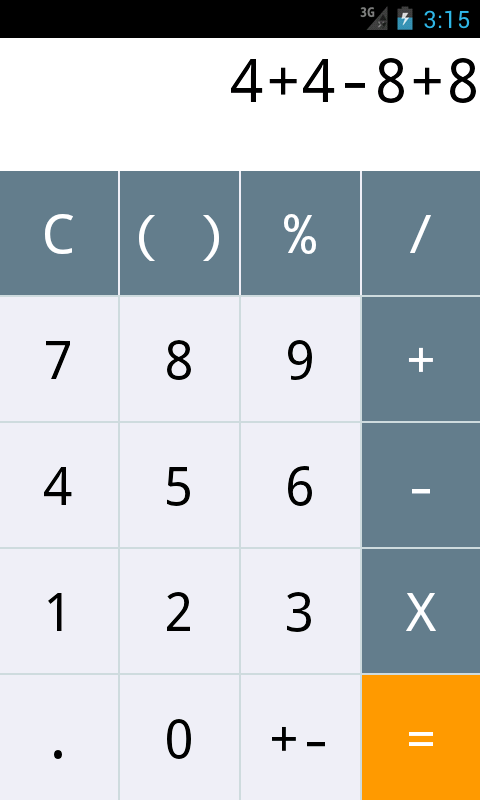 Android calculator source code