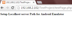 Setup localhost as server in android emulator with Xampp Wamp Android Studio