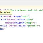 Solve element selector must be declared Error in Android Studio