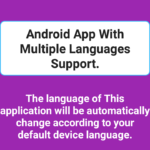 Create Android App With Multiple Language Support Example Tutorial