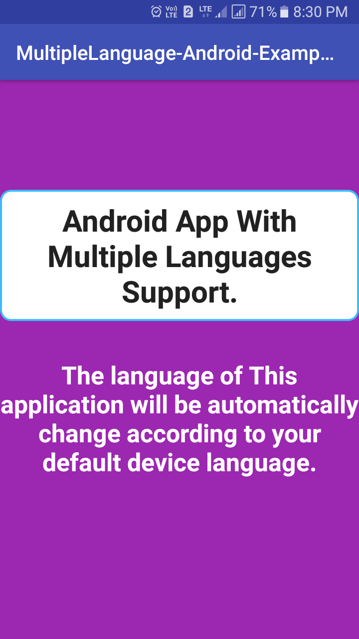 Create Android App With Multiple Language Support in Example Tutorial