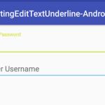 Change TextInputLayout underline color in android tutorial