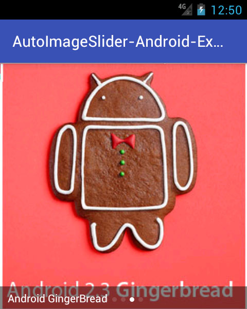 Android Multiple Auto Image Slider Example Tutorial using Online URL