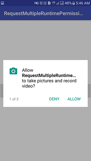 Request Check Multiple Runtime Permissions at once in android Marshmallow