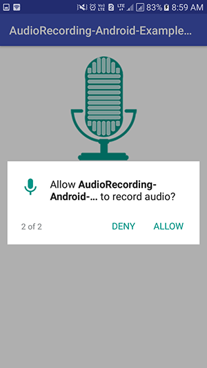 Android Audio Voice Recording App Example Tutorial with source code