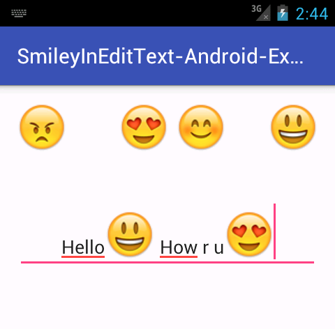 Add Show Smiley Emoticons Inside Edittext In Android Application