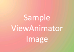 Android ViewAnimator with Animation Example Tutorial