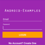 Android Login UI Design Screen Example Tutorial With Source Code