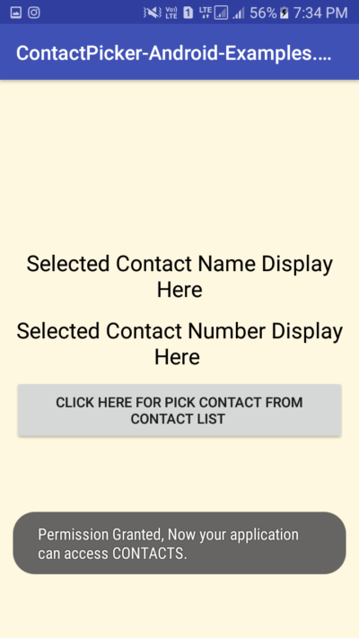 Get Pick Number From Contact List In Android Programmatically