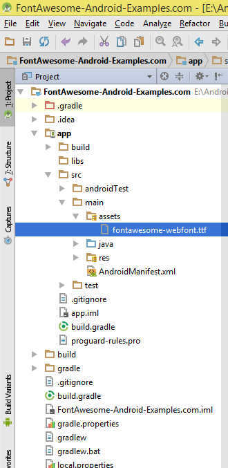 Use Add Font Awesome Icons In Android Application Tutorial
