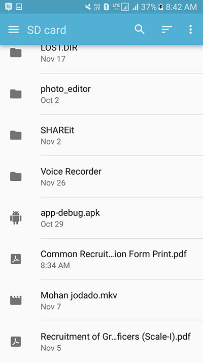 Open File Manager Explorer In Android Pick Any File