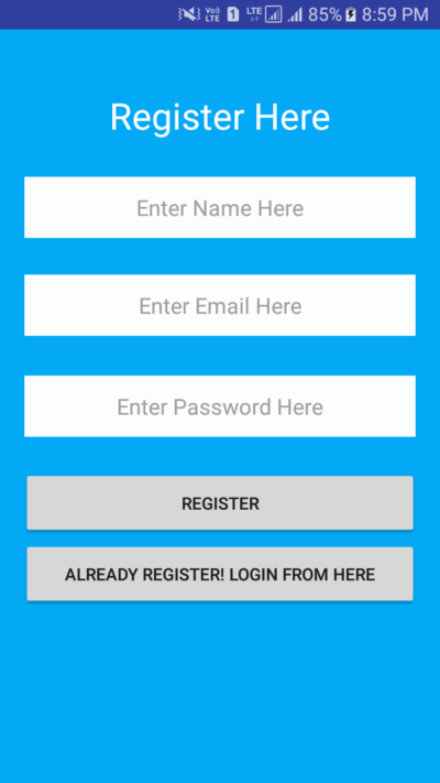 android login registration with php mysql example tutorial