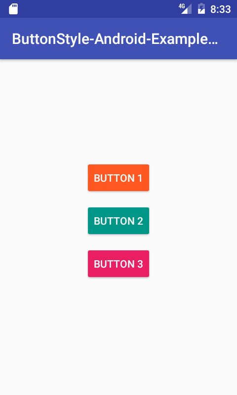 Change Material Design Android Button Style In Studio