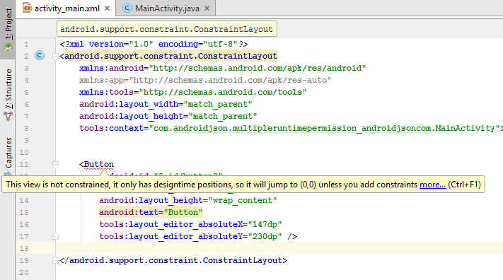This view is not constrained Android Studio Error Solution Tutorial