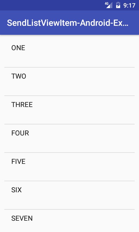 Android Send ListView Clicked value to Another Activity