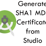 Generate SHA1 And MD5 Certificate from Android Studio Without CMD