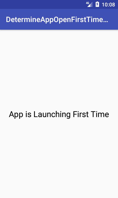 Determine App Starts First Time
