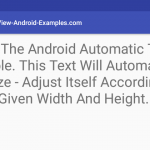 Android AutoFit Text Resize-Scale Within Bounds Example Tutorial