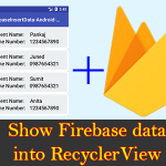 Show Firebase Database Data into RecyclerView ListView Tutorial