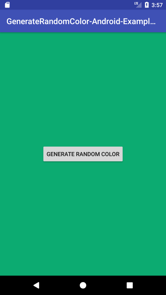 Generate Random Color