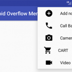 Android Overflow Menu on Action Bar Toolbar with Icons Tutorial